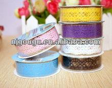Decorative plastic lace tape,fashion DIY tape(GD-TP001)