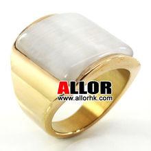 Fashin White Opal Stone Stock Gold Ring Designs