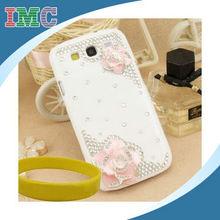 Creative design pink hard plastic rhinestones case for Samsung Galaxy S3 i9300-IMC-TOSAM-002942