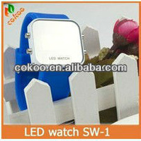 Watch led prmotion!!!New product power reserve square watch led.2013 new fashion led mirror watch factory price wholesale.