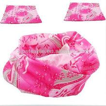 Customized ladies pink magic multifunctional bandana microfiber polyester outdoor bandana cap