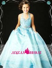 stylemw0163 nuovo arrivo organza cristallo piccola regina abito abito da ballo per i bambini