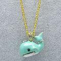 di moda jc balena blu con graziose animale cane smalto collana di diamanti