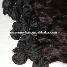 100% human hair extensions top quality human hair bangs/ human hair weft