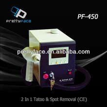PF-450 Beauty equipment . 2 in 1 tatoo & spot removal (CE). hot sale beauty tatoo &spot hair removal equipment