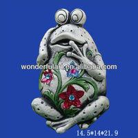 cement frog garden animal