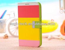 for Samsung Galaxy Mega 6.3 i9200 Leather Wallet Case; Galaxy Mega 6.3 i9200 Cover Skin