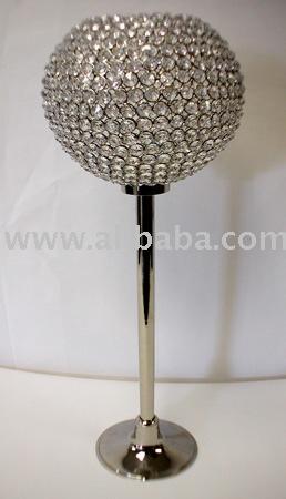Wedding Crystal Ball Candelabra