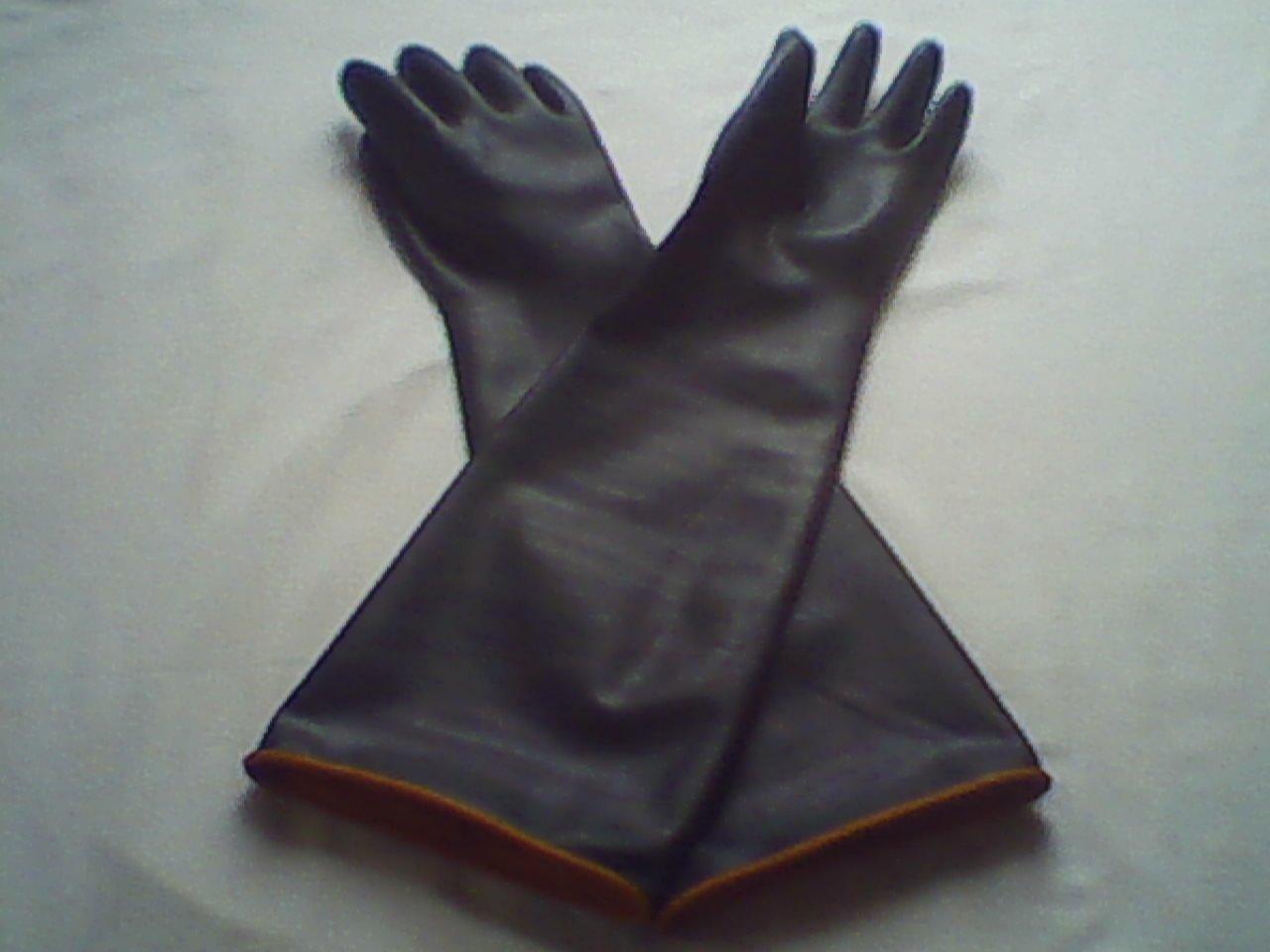 резиновые перчатки до плечей для рыбалки
