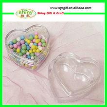 Clear Acrylic Heart Wedding Favor Box