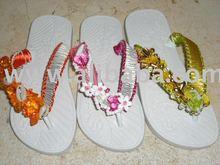 pretty flip flop macrame decorated