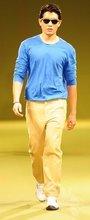 blue shirt & denim