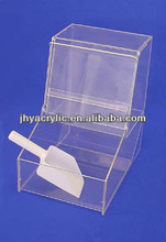 flip top candytin window square box with compartment