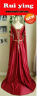 New Arrival Red Low-cut Long Sleeve Sexy Wedding Costume