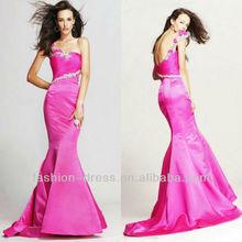 2013 nouvelle arrivée fuchsia sirène robe de soirée en turquie
