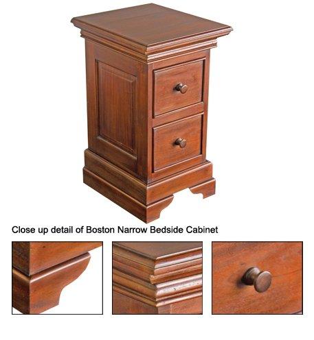 Boston troite table de chevet rangement salon id du - Table de chevet etroite ...
