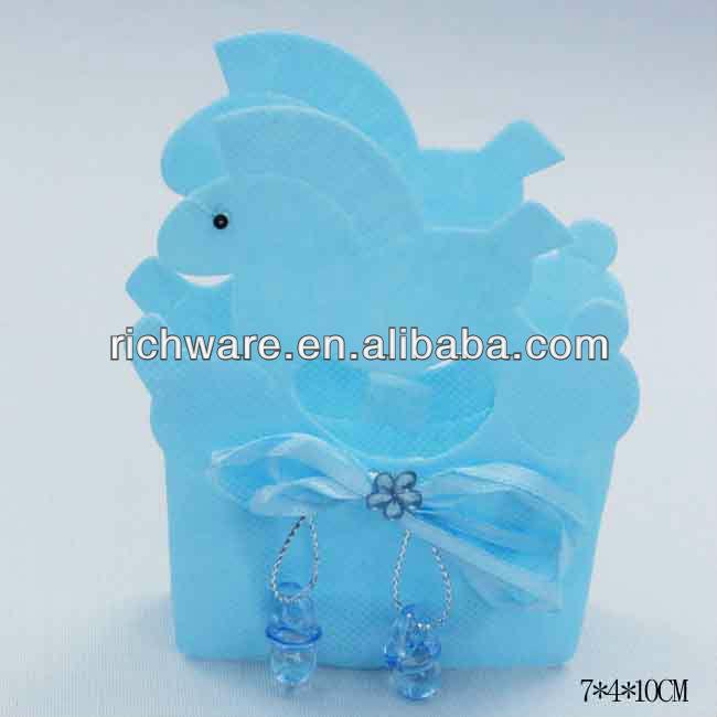 venta del bebé azul decorado cesta para baby shower decoración