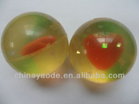transparent rebound stress soft rubber toy bouncy ball for kids