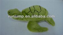 soft plush green sea turtle toy