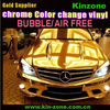 2013 Top Quality wholesaler bubbles free Chrome Vinyl car Stickers distributor