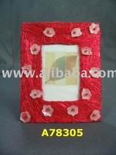 Abaca Fiber photo frame with flowers