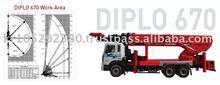 Work platform ~ Aerial work platform truck DIPLO670