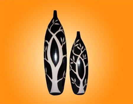 Jarrones ceramica de chulucanas con hojas buy ceramica - Jarrones de ceramica ...