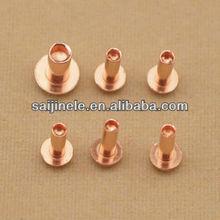 brake rivet/ Brass tubular semi-hollow rivet