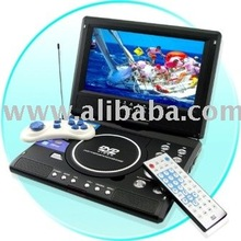PORTABLE DVD PLAYER 9 INCH, TV, LCD SCREEN.