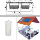 Solar Split Pressured water heaters