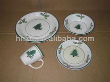 Ceramic stoneware dinner sets/ Handpainting X'MAS dinnerware