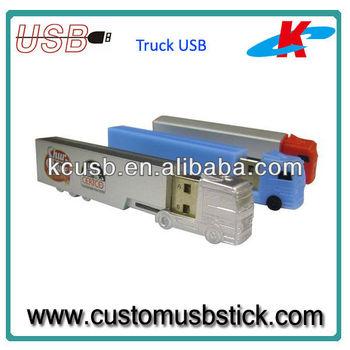 plastic truck shape usb flash drives 128MB
