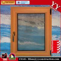 aluminum tilt and turn window, wood grain filmed, pvc or aluminum frame,top hung or side hung outward opening