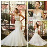 Stunning Sweetheart Lace Appliqued Romantic Latest Suzhou Wedding Dress