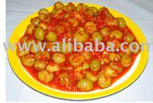 con olive pepe rosso
