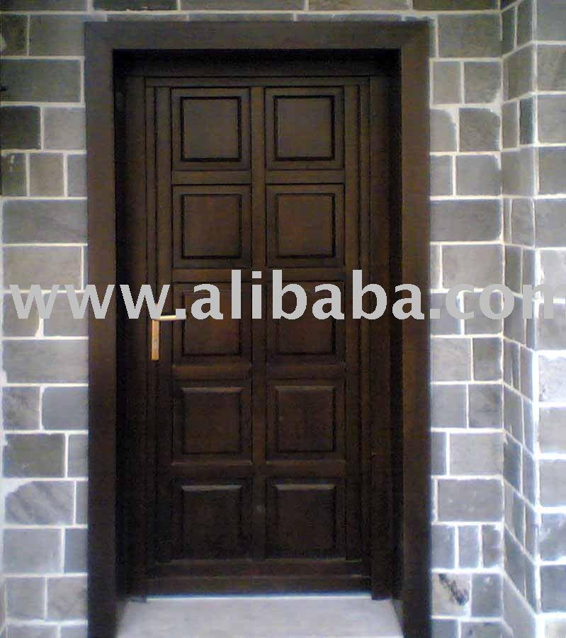 Madera maciza puerta de entrada puertas identificaci n - Puertas de madera de entrada ...