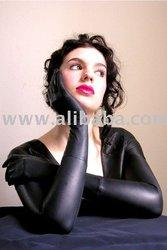 Leather gloves bolero