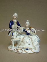 Japanese Gift - Porcelain (Ceramic) Lace Doll Figurine
