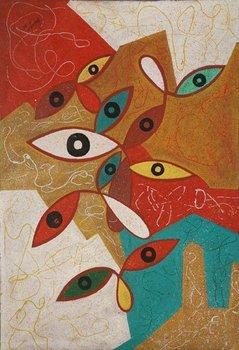 p many eyes painting