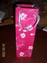 Wine Bottle Bags In Silk Screen Printed Handmade Paper