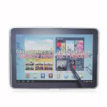 X Shape TPU Gel Soft Back Cover Case Skin for Samsung Galaxy Note 10.1 N8000