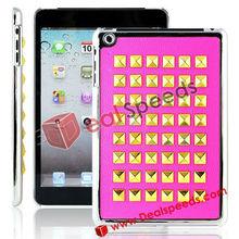 For iPad Mini Cases Wholesale! Beautiful Paste Metal Studs Protective Case for iPad Mini