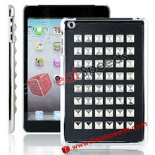 Wholesale Covers for iPad! Paste Metal Studs Hard Case Cover for iPad Mini
