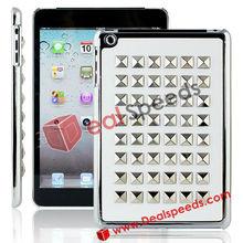For iPad Mini Protective Skins!Paste Metal Studs Hard Case for iPad Mini