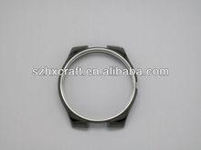 shenzhen factory sapphire watch case parts gentlemen stainless steel silver manufacturer eta movement
