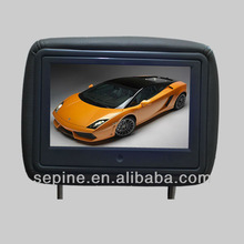 New,9inch transparent lcd display advertising headrest 3g/wifi in car