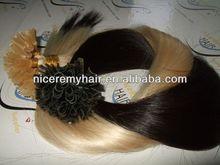 Best selling italian glue 100% human hair extension u tip pre bonded hair extension