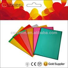 clear plastic book cover/books cover design/laser pvc book cover