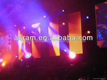 alibaba express Asram Shenzhen LED Full Color Rental Stage Setting Advertising Concert Background LED Flex Curve Curtain Display