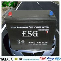 MF/Maintenance/lead acid battery/auto battery/ MF N60 12V60AMP